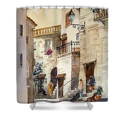 A Tuscan Street Scene Shower Curtain