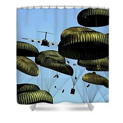 A U.s. Air Force C-17 Globemaster IIi Shower Curtain by Stocktrek Images