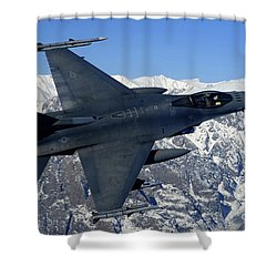 A U.s. Air Force F-16 Fighting Falcon Shower Curtain by Stocktrek Images
