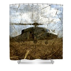 A U.s. Navy Hh-60 Seahawk Stirs Shower Curtain by Stocktrek Images