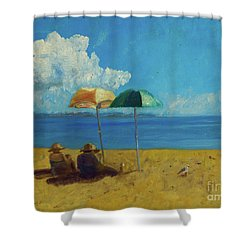 A Vacant Lot - Byron Bay Shower Curtain