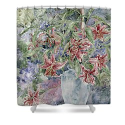 A Vase Of Lilies Shower Curtain