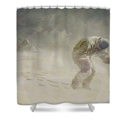 A Very Gallant Gentleman Shower Curtain by John Charles Dollman