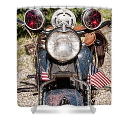 A Very Old Indian Harley-davidson Shower Curtain