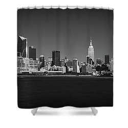 Shower Curtain featuring the photograph A View From Across The Hudson by Eduard Moldoveanu