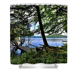 Shower Curtain featuring the photograph A View From Covewood by David Patterson