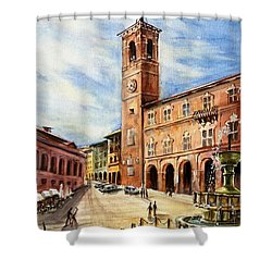 A View From Fabriano Shower Curtain