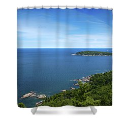 A View From Sugarloaf Mountain Shower Curtain by Dan Hefle