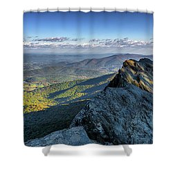 Shower Curtain featuring the photograph A View From The Cliffs by Lori Coleman