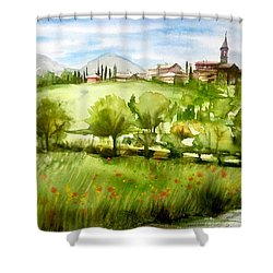 A View From Tuscany Shower Curtain
