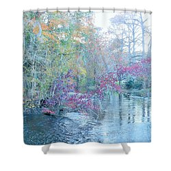 Shower Curtain featuring the photograph A View Of Autumn by Kay Gilley