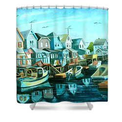 A View Of Ramblesville Shower Curtain
