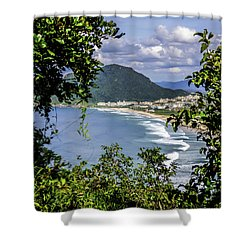 A View Of The Beach Shower Curtain