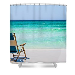 A View Of The Ocean Shower Curtain by Shelby  Young