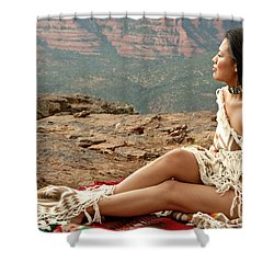 A View Shower Curtain