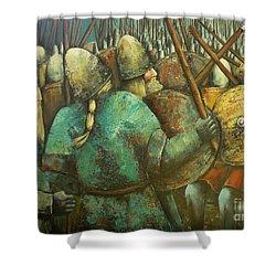 A Viking Skirmish Shower Curtain
