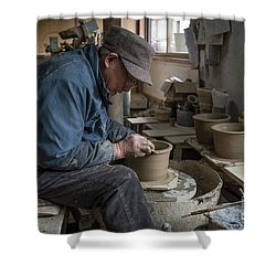 A Village Pottery Studio, Japan Shower Curtain