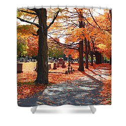 A Visit To Calvary On A Gorgeous Fall Day Shower Curtain