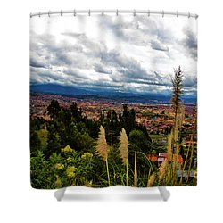 A Vista Of Cuenca From The Autopista Shower Curtain