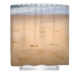 A Walk Along The Beach  Shower Curtain