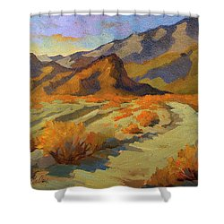 A Walk In La Quinta Cove Shower Curtain by Diane McClary