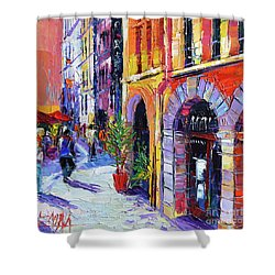 A Walk In The Lyon Old Town Shower Curtain