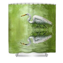 A Walk In The Marsh Shower Curtain by Cyndy Doty