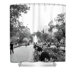 Shower Curtain featuring the photograph A Walk In The Park by Ana V Ramirez