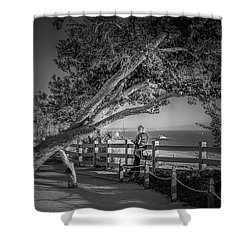 A Walk In The Park B And W Shower Curtain