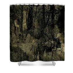 Shower Curtain featuring the photograph A Walk In The Park by Jim Vance