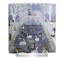 A Walk In The Park Shower Curtain by Pat Scott