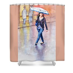 A Walk In The Rain Shower Curtain