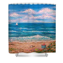 A Walk In The Sand Shower Curtain