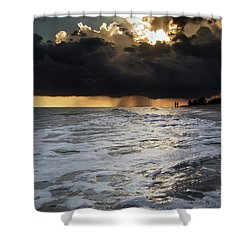 A Walk On The Beach Shower Curtain by Greg Mimbs
