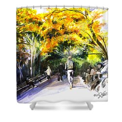 A Walk Through The Park Shower Curtain