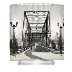 A Walk Through Time Shower Curtain by Lori Deiter