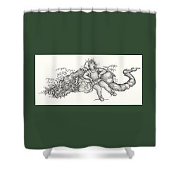 Real Fake News Foto A Warm Log Shower Curtain