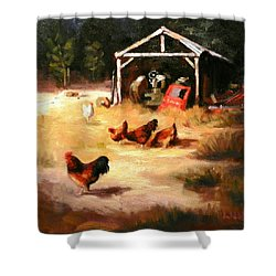 A Watchman Shower Curtain