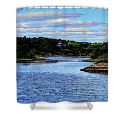 Shower Curtain featuring the photograph A Water View Newport Ri by Tom Prendergast