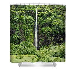 A Waterfall In Tahiti Shower Curtain
