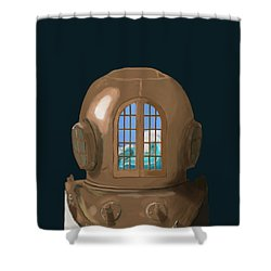 A Wave Inside The Helmet Shower Curtain