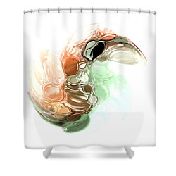 A Wave Of Color Shower Curtain by Jessica Wright