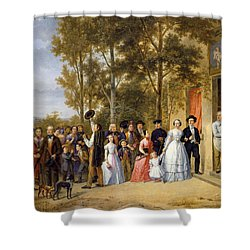 A Wedding At The Coeur Volant Shower Curtain by French School