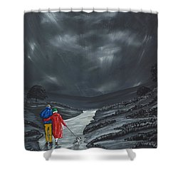 A Wee Bijou Strollette Shower Curtain