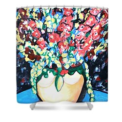 A Welcoming Bouquet Shower Curtain