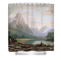 A Welsh Valley Shower Curtain by John Varley