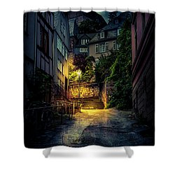 Shower Curtain featuring the photograph A Wet Evening In Marburg by David Morefield