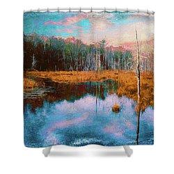 A Wilderness Marsh Shower Curtain