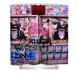 A Wiley The Monkey Mural In New York  Shower Curtain by Funkpix Photo Hunter