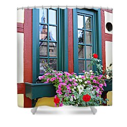 A Window In Eltville  2 Shower Curtain by Sarah Loft